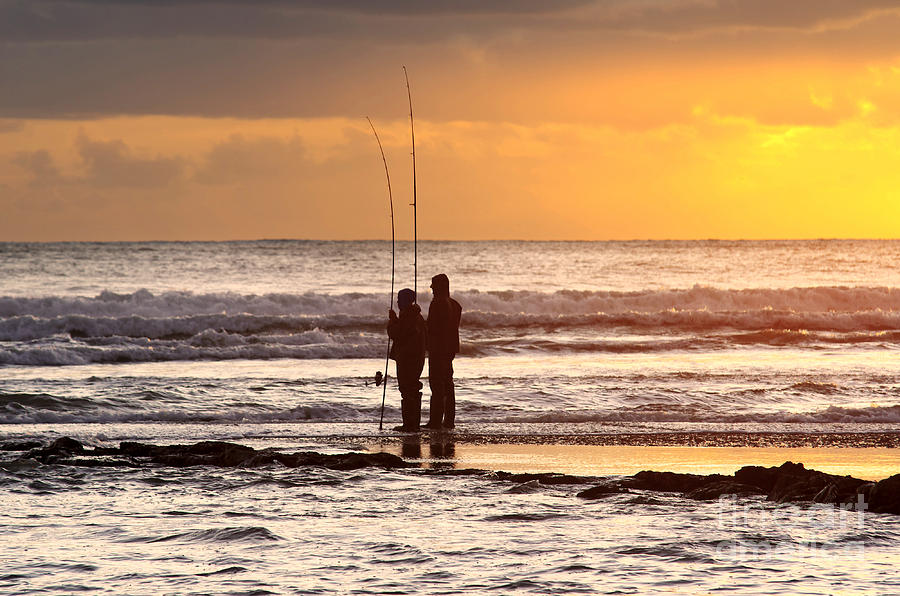 Active Photograph - Two Fisherman by Carlos Caetano