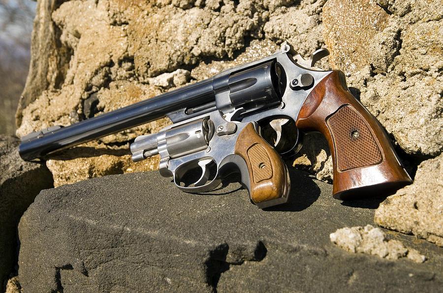 Barrel Photograph - Two Hand Guns by Susan Leggett