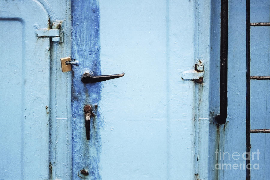 Ship Photograph - Two Handles And A Padlock by Agnieszka Kubica
