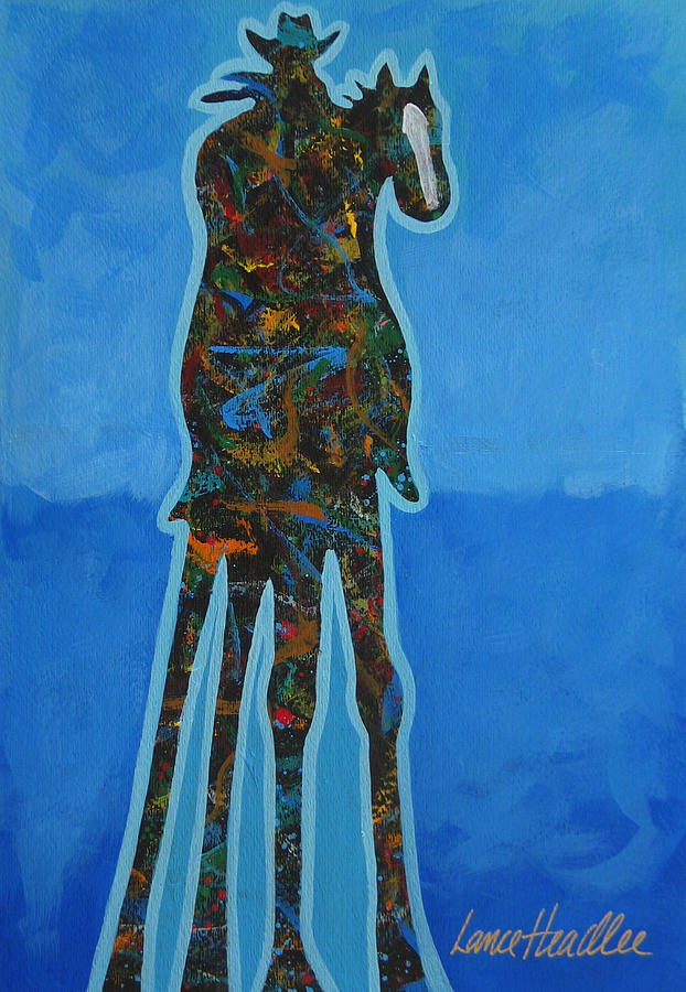Contemporary Painting - Two In Blue by Lance Headlee