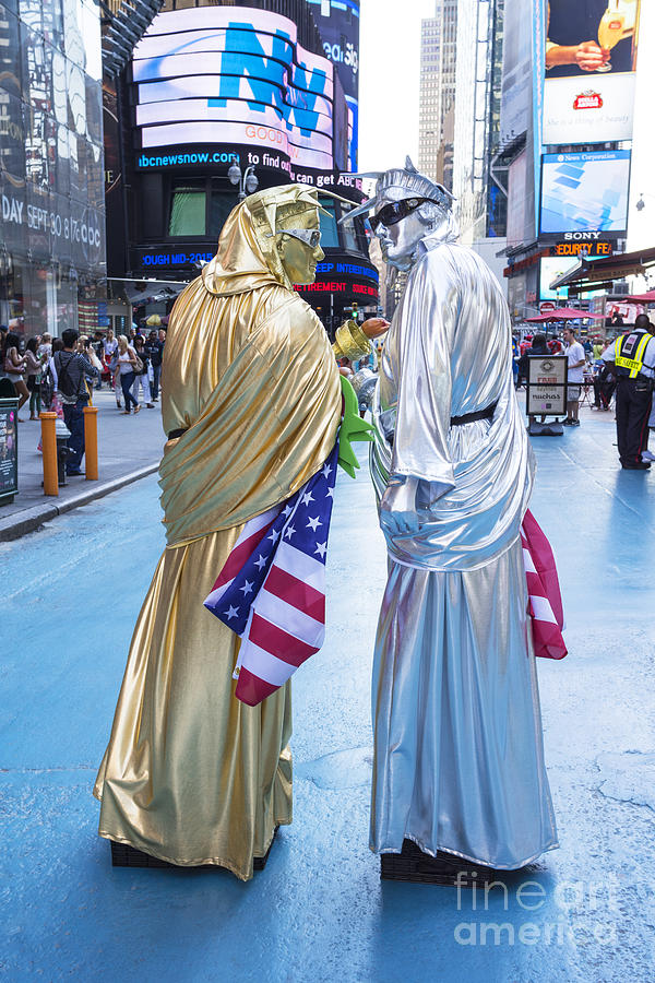 New York City Photograph - Two In Time Square by Ed Rooney