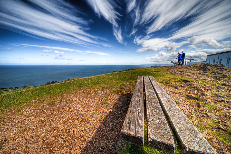 Hdr Photograph - Two Men And A Dog by Adrian Evans