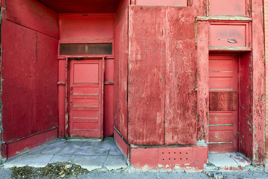 Two Red Doors Photograph by James Steele