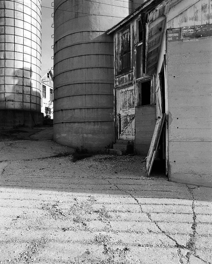 Wisconsin Photograph - Two Silos Wern Farm by Jan W Faul