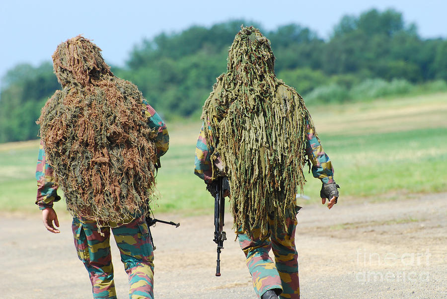 Adults Only Photograph - Two Snipers Of The Belgian Army Dressed by Luc De Jaeger