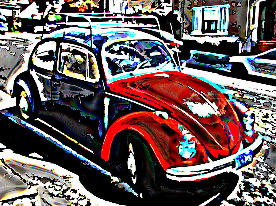 Two Tone Photograph - Two Toned Vw Beetle by Samuel Sheats