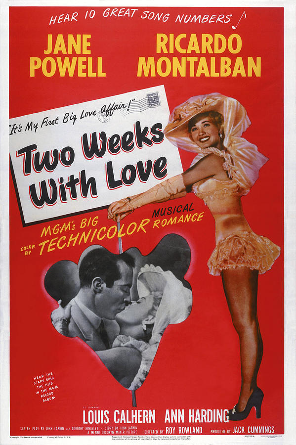 1950 Movies Photograph - Two Weeks With Love, Insert Ricardo by Everett