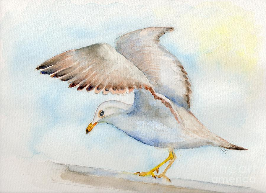 Tybee Seagull Painting By Doris Blessington
