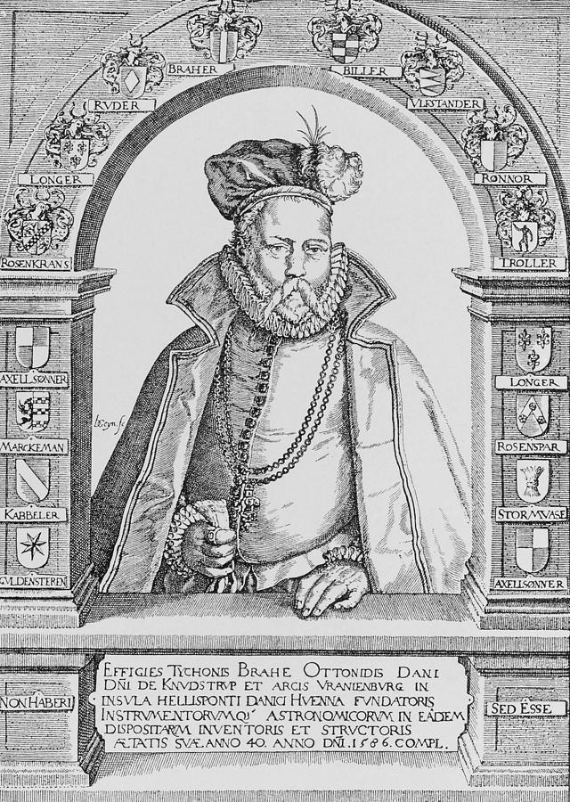 Brahe Photograph - Tycho Brahe by Science, Industry & Business Librarynew York Public Library