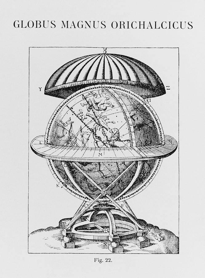 Brahe Photograph - Tychos Great Brass Globe by Science, Industry & Business Librarynew York Public Library