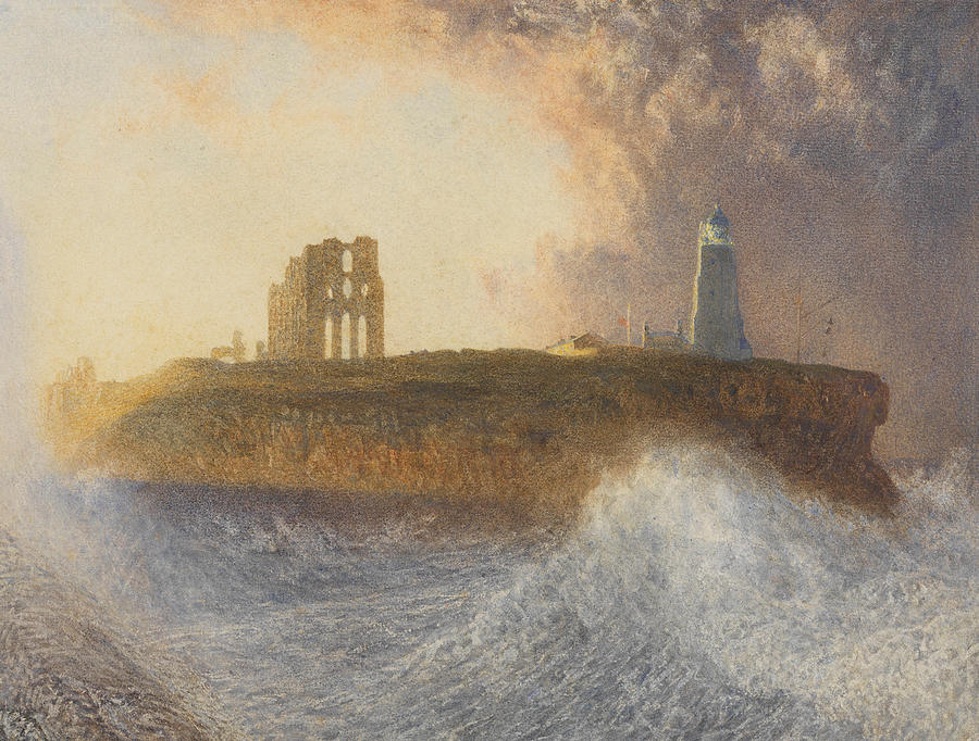 Seascape Painting - Tynemouth Pier by Alfred William Hunt