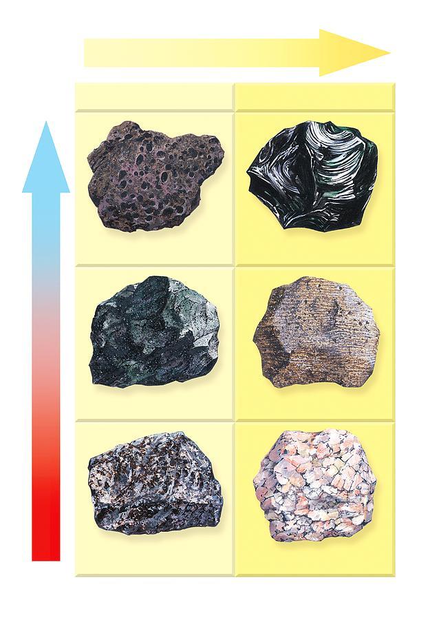 Scoria Photograph - Types Of Volcanic Rock by Gary Hincks