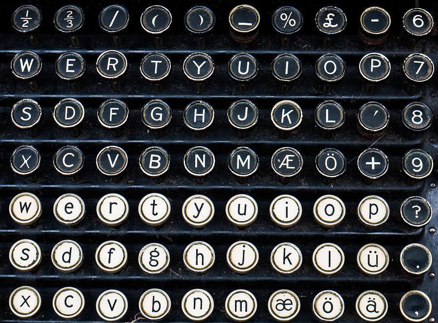 Typewriter Photograph - Typewriter Keyboard by Hakon Soreide
