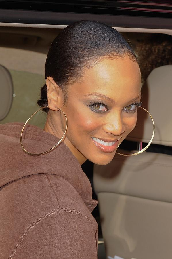 Tyra Banks Photograph - Tyra Banks, Leaves The Wendy Williams by Everett