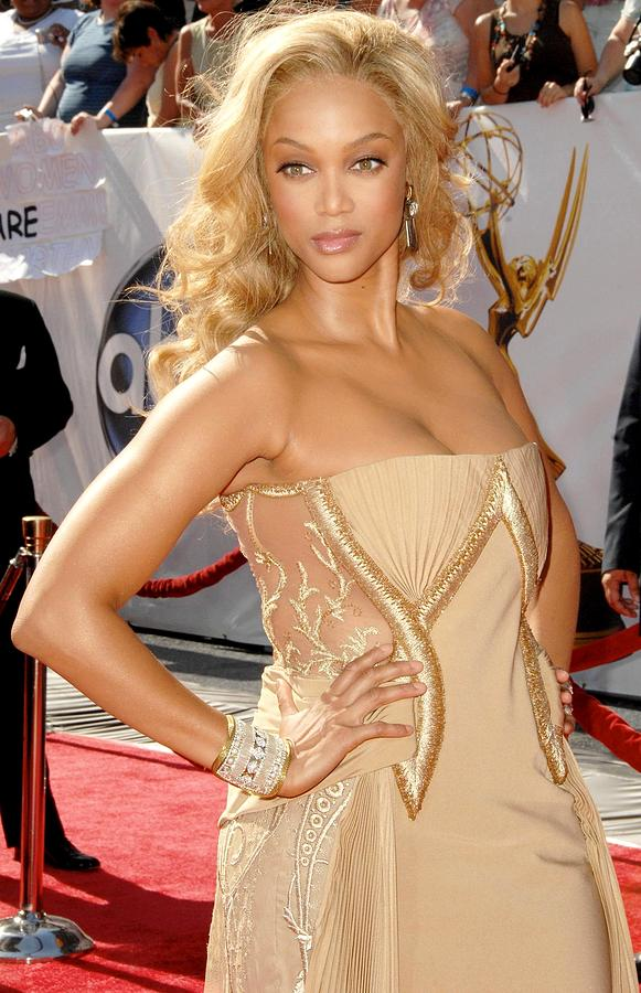 35th Annual Daytime Emmy Awards Photograph - Tyra Banks Wearing A Georges Chakra by Everett