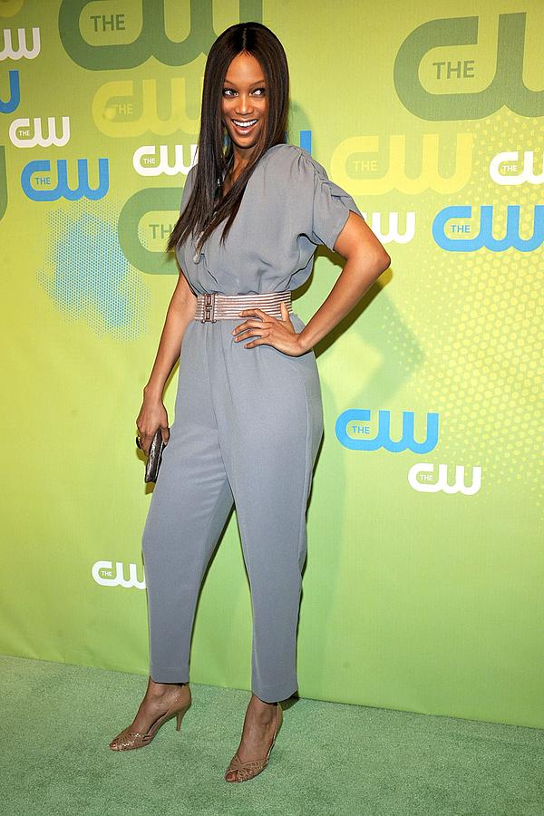Tyra Banks Photograph - Tyra Banks Wearing A Marley Jumpsuit by Everett