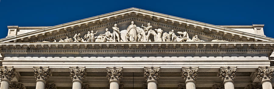 U S Capitol Frieze Over East Facade Photograph By Richard Nowitz