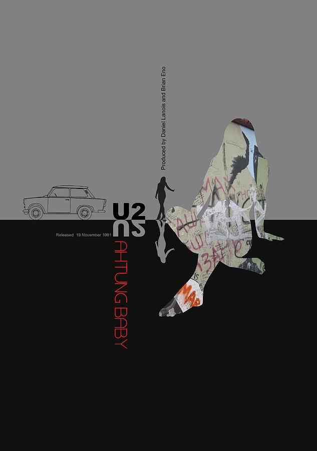U2 Digital Art - U2 Poster by Naxart Studio