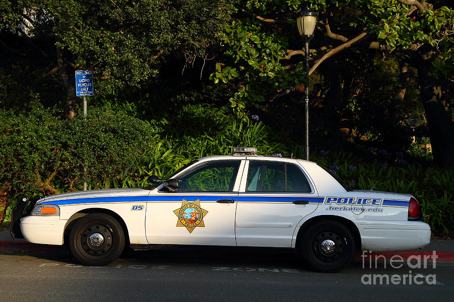Police Car Photograph - Uc Berkeley Campus Police Car  . 7d10178 by Wingsdomain Art and Photography