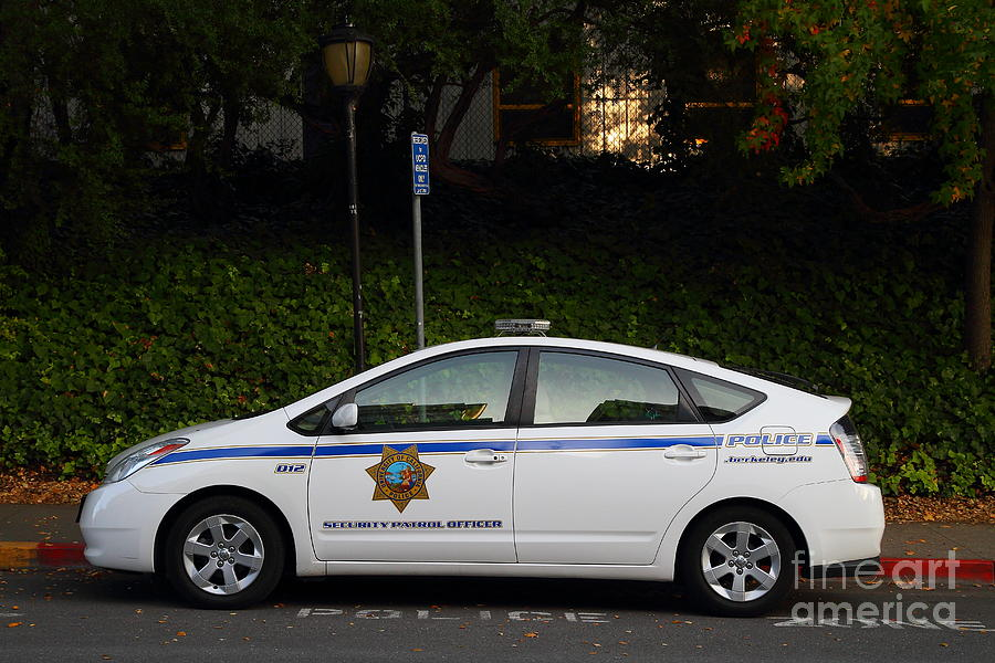 Police Car Photograph - Uc Berkeley Campus Police Car  . 7d10181 by Wingsdomain Art and Photography