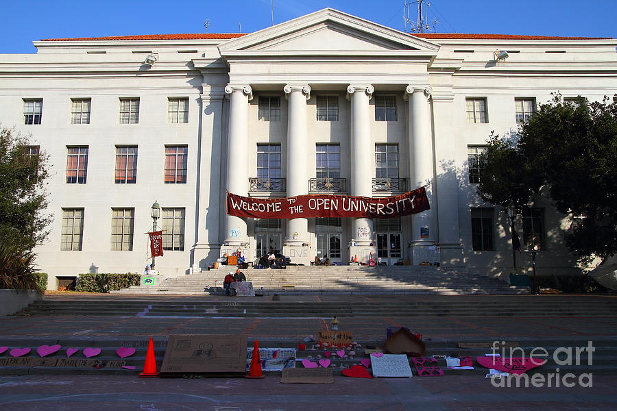 Sproul Photograph - Uc Berkeley . Sproul Hall . Sproul Plaza . Occupy Uc Berkeley . 7d10017 by Wingsdomain Art and Photography