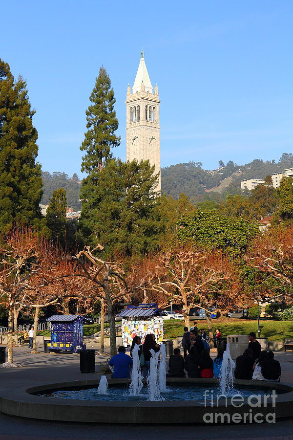 Sproul Photograph - Uc Berkeley . Sproul Plaza . Sather Gate . 7d9998 by Wingsdomain Art and Photography