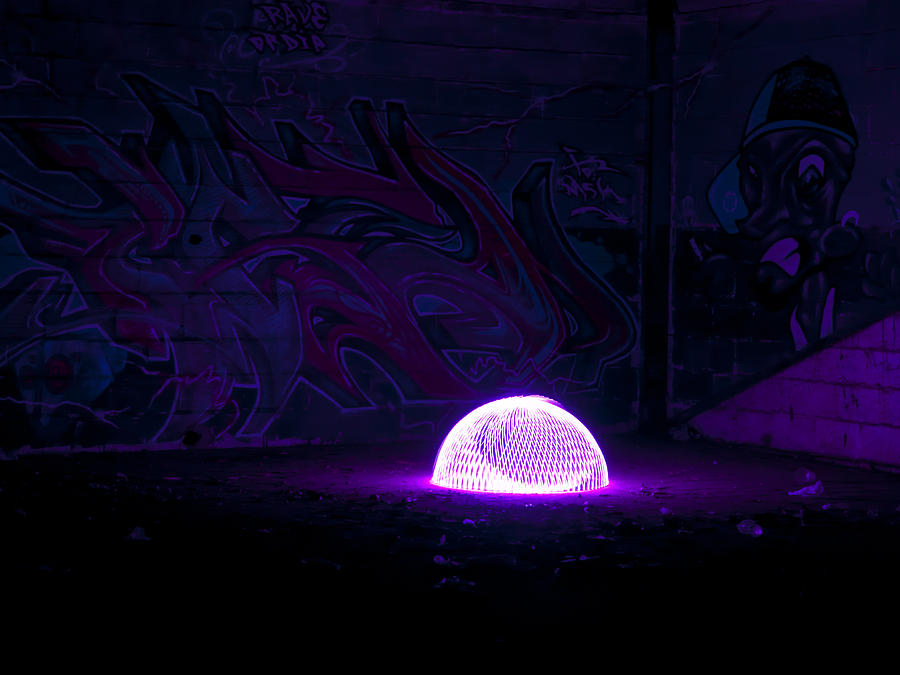 Light Photograph - UFO by Luis oscar Sanchez