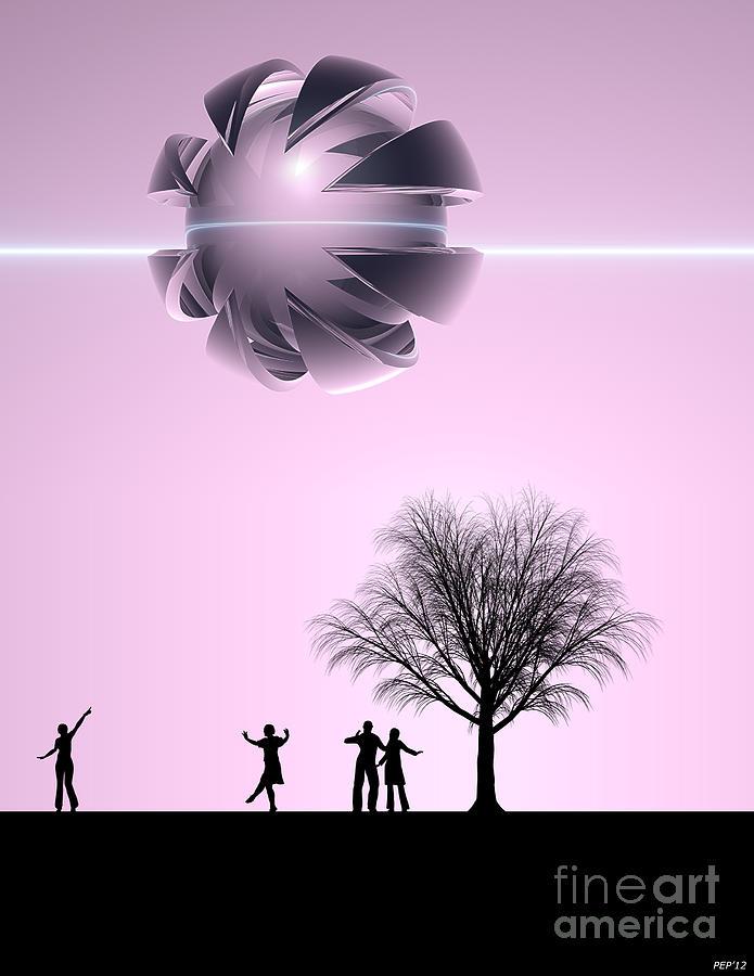 Science Fiction Digital Art - UFO Sighting by Phil Perkins