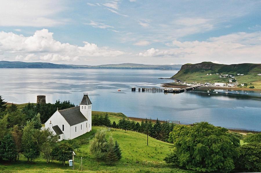 Church Photograph - Uig and Loch Snizort by Steve Watson