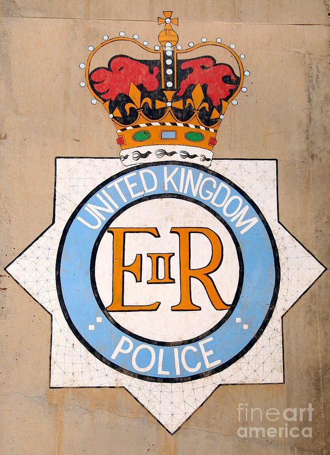 British Photograph - Uk Police Crest by Unknown
