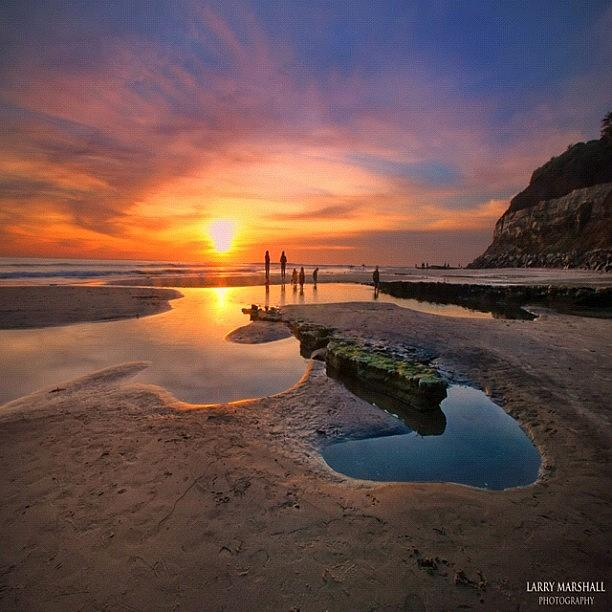 Ultra Low Tide Sunset At A North San Photograph by Larry Marshall