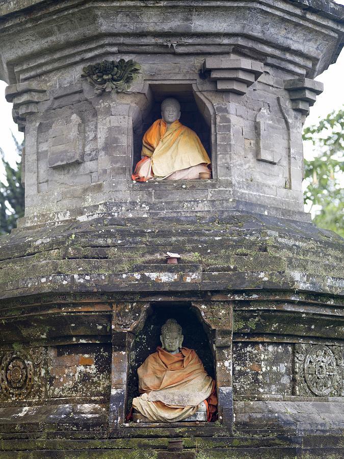 Vertical Photograph - Ulun Danu Temple Statues by Design Pics