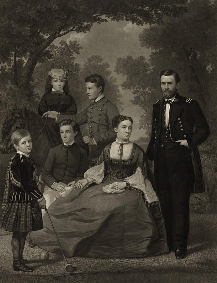 History Photograph - Ulysses S. Grant With His Family When by Everett