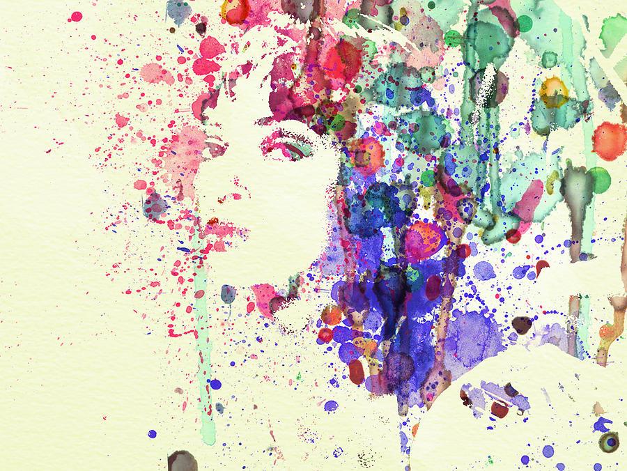 Uma Thurman Painting - Uma Thurman by Naxart Studio
