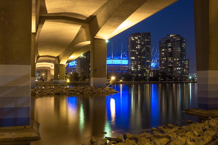 Vancouver Photograph - Under Da Bridge by Mirco Millaire