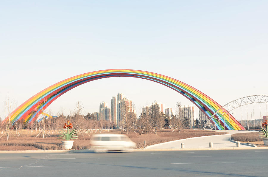 Horizontal Photograph - Under Rainbow by Andy Brandl