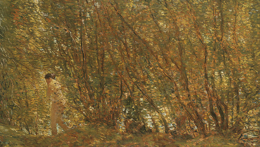 Tree Painting - Under The Alders by Childe Hassam