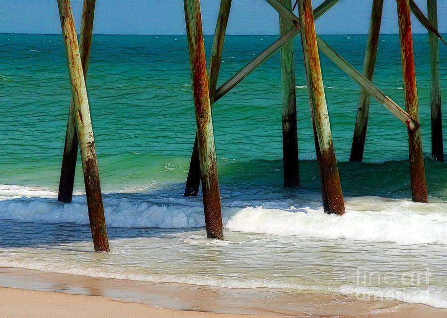 Pier Photograph - Under The Boardwalk by Judi Bagwell