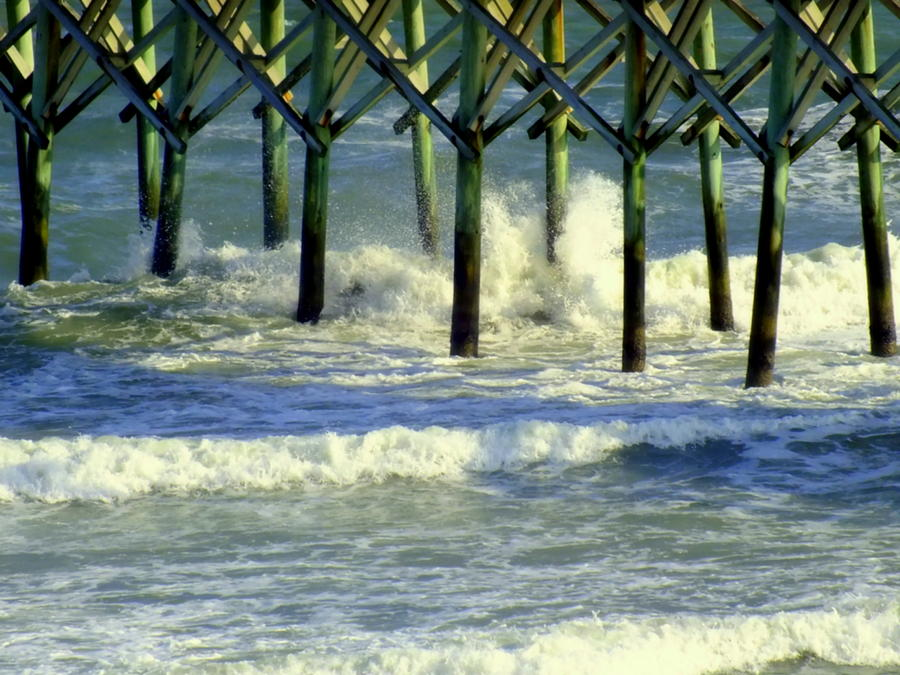 Waterscapes Photograph - Under The Boardwalk by Karen Wiles