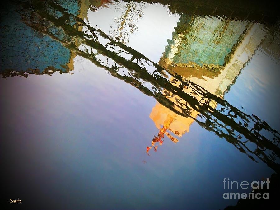 Reflections Photograph - Under The Bridge by Eena Bo