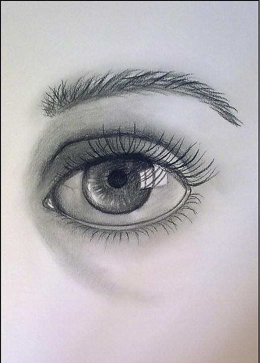 Under the eyebrow drawing by varteni davies for Drawing eyebrows on paper