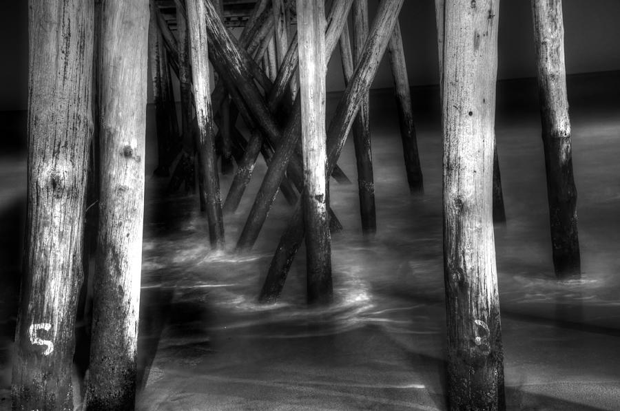 Black And White Photo Photograph - Under The Pier by Paul Ward