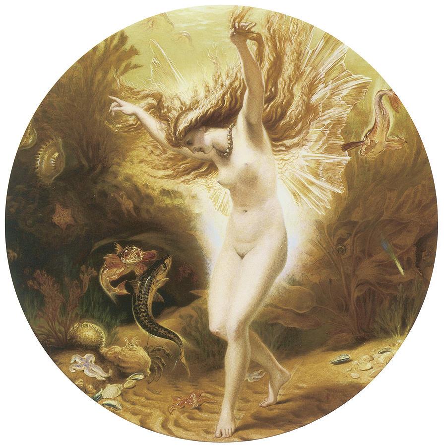 Underwater Painting - Under the Sea II by Joseph Noel Paton