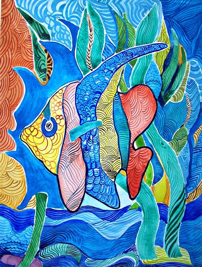Under The Sea Painting by Sandra Lira