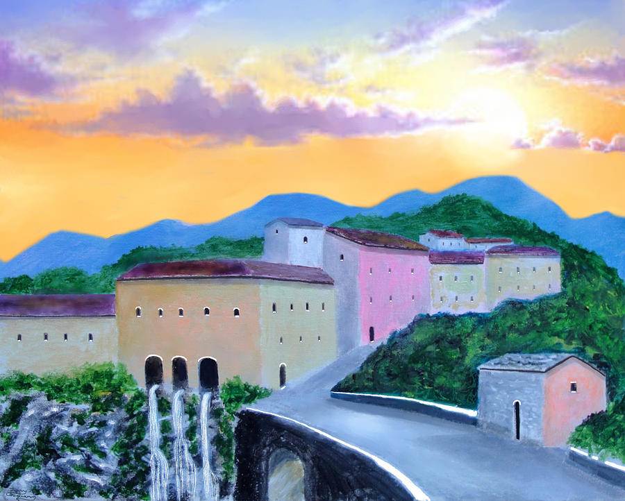 Tuscany Painting - Under The Tuscan Sun by Larry Cirigliano