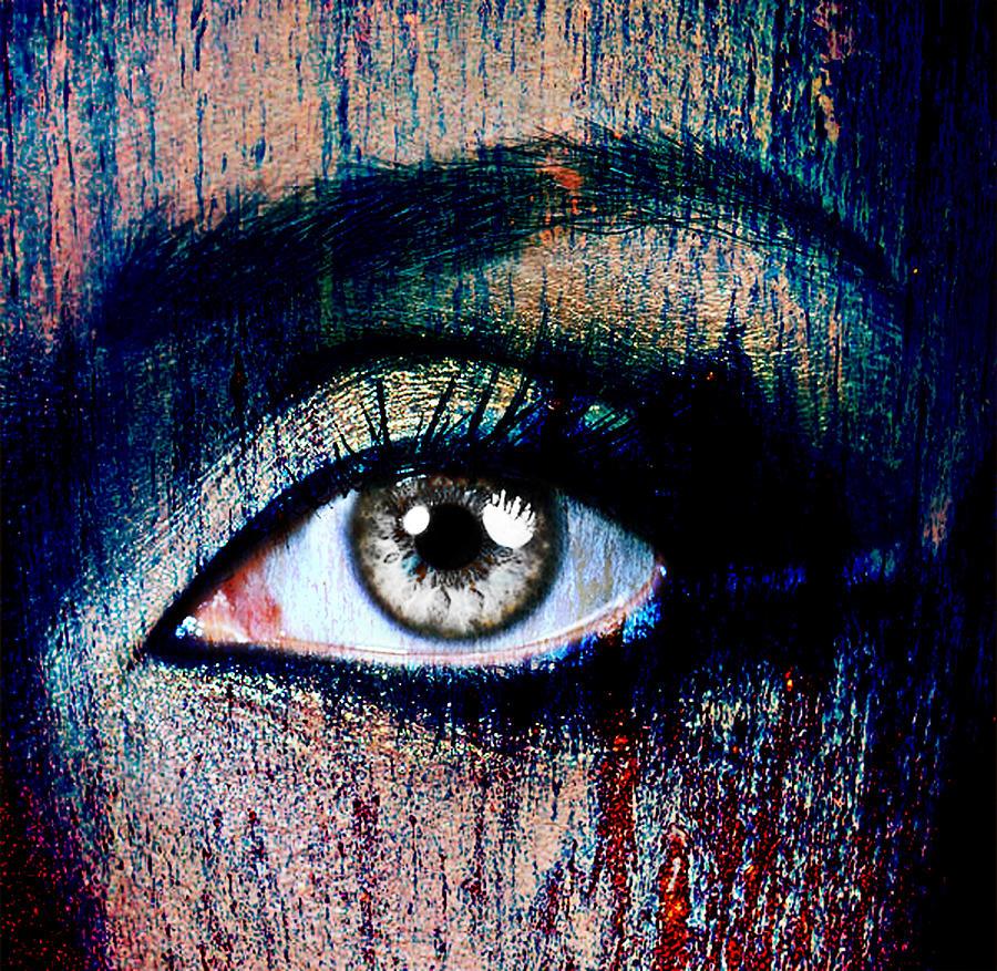 Human Eye Photograph - Under by Yosi Cupano