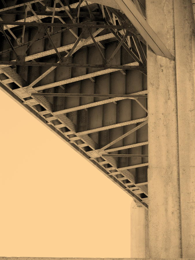 Architecture Photograph - Underside Of 6th Street Bridge by Kevin  Break