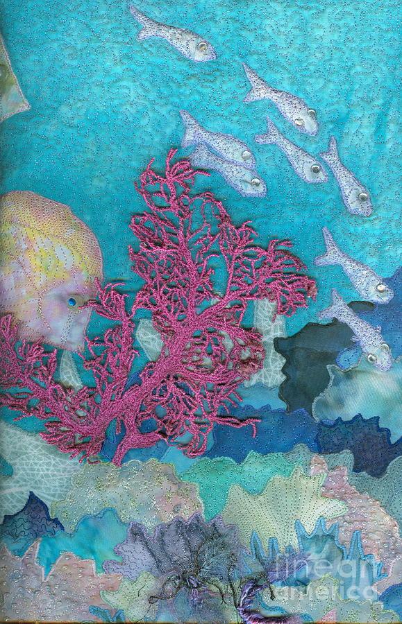 Aquatic Tapestry - Textile - Underwater Splendor I by Denise Hoag