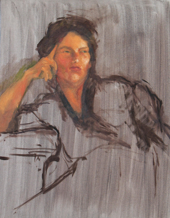 Oil Painting - Unfinished Portrait by Becky Kim