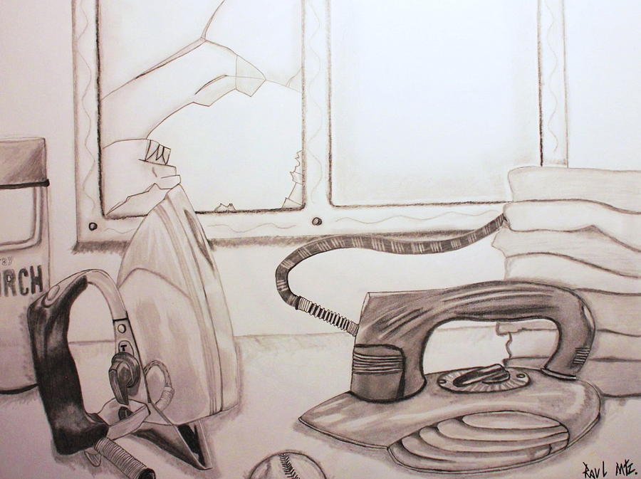 Irons Drawing - Unfortunate Accident by Raul Martinez